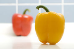Peppers on closeup. Vegetable-Two peppers on closeup Royalty Free Stock Photography