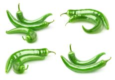 hot green peppers Stock Photo