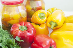 Peppers conservation Royalty Free Stock Photos