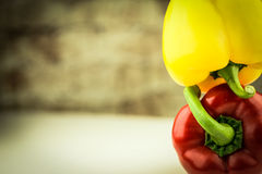 Peppers and copyspace Stock Photo