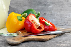 Peppers cut up Royalty Free Stock Photos