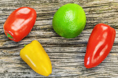 Peppers of different colors Stock Photo