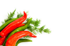 Peppers and dill Stock Image