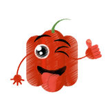 peppers expressions silly face stock illustration