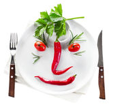 Peppers face Royalty Free Stock Photo