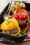 Peppers Filled with Ground Meat Stock Photo