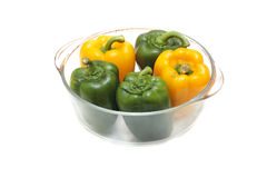 Peppers filled with rice and meet Royalty Free Stock Images