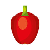 Peppers fresh vegetable icon. Vector illustration design Stock Photos