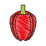 Peppers fresh vegetable icon. Vector illustration design Royalty Free Stock Photos
