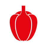 Peppers fresh vegetable icon. Vector illustration design Royalty Free Stock Image