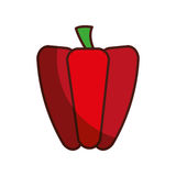 Peppers fresh vegetable isolated icon. Illustration design Stock Image