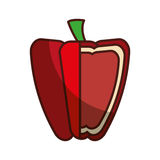 Peppers fresh vegetable isolated icon. Illustration design Royalty Free Stock Photo