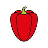 Peppers fresh vegetable isolated icon. Illustration design Stock Images