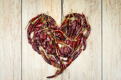 Peppers heart Stock Photography