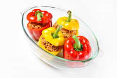 Peppers in a heatproof glass Royalty Free Stock Photography
