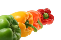 Peppers isolated on white Royalty Free Stock Photography