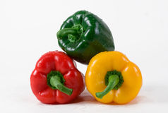 Peppers isolated on white background Royalty Free Stock Image