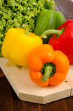 Peppers and lettuce Stock Image