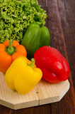 Peppers and lettuce Stock Photography