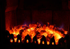 Peppers. Magic howled embers in the fireplace Royalty Free Stock Photos