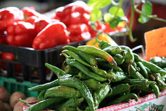 Peppers at market Stock Images