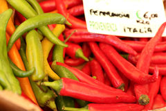 Peppers market Stock Photo