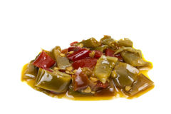 Peppers in olive oil Royalty Free Stock Photography
