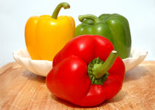 Peppers On The Board Royalty Free Stock Photo
