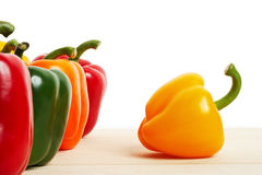 Peppers On White Royalty Free Stock Photo