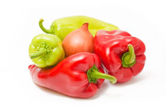 Peppers and onion Stock Image