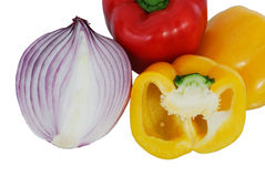 Peppers and onions Royalty Free Stock Photography