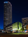 Peppers Oracle precinct. Broadbeach, Qld, Australia on 20th Jan 2016: The Oracle is a two-tower luxury apartment development in Broadbeach on the GC. It holds Royalty Free Stock Photo