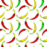 Peppers pattern Stock Photo