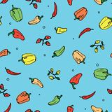 Peppers pattern stock illustration