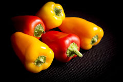 Peppers. Pepper - Vegetable, Bell Pepper, Vegetable, Red and Yellow. 5 objets Royalty Free Stock Photography