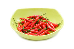 Peppers in plate isolated Royalty Free Stock Photo