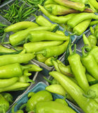 Peppers for sale at farmers' market Royalty Free Stock Photo