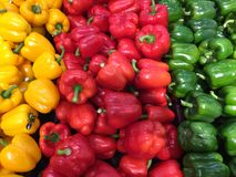 Peppers for sale Stock Image