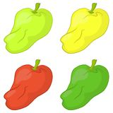 Peppers, set Royalty Free Stock Image