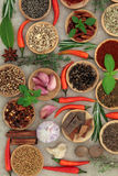 Peppers Spices and Herbs Royalty Free Stock Image