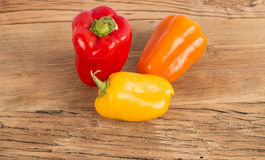 Peppers. Still life bell pepperoni board Royalty Free Stock Images