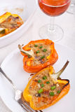 Peppers stuffed with cheese Royalty Free Stock Photo