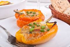 Peppers stuffed with cheese Royalty Free Stock Images
