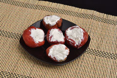 Peppers stuffed with cream Royalty Free Stock Image