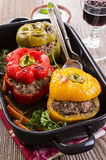 Peppers Stuffed with Meat Stock Photos