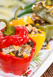 Peppers stuffed with minced meat Royalty Free Stock Image