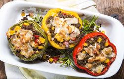 Peppers stuffed with minced meat Stock Photo