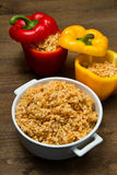 Peppers stuffed with rice Royalty Free Stock Photo