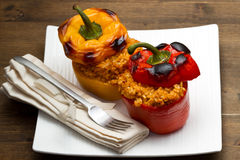 Peppers stuffed with rice Royalty Free Stock Photos