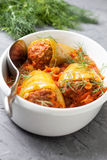 Peppers stuffed with tomato sauce Royalty Free Stock Image